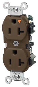 LEVITON 5362-IGB : ISOLATED GROUND BROWN DUPLEXRECEPTACLE-N5-20R