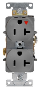 LEVITON 5362-IGG : ISOLATED GROUND GRAY DUPLEXRECEPTACLE-N5 20R