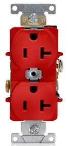 LEVITON 5362-IGR : ISOLATED GROUND RED DUPLEXRECEPTACLE-N5-20R