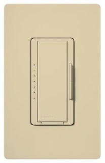 Lutron Maestro MA-600 Ivory 600W Single Pole/Multi-Location Incandescent Preset Smart Dimmer