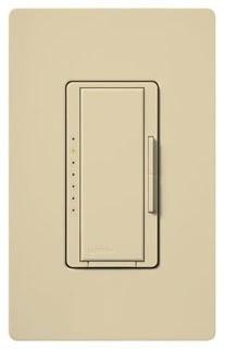 Lutron Maestro MA-600 Ivory 600W Single Pole/Multi-Location Incandescent Preset Smart Dimmer