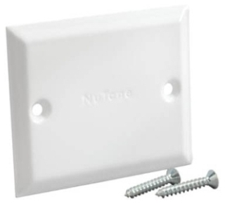 Nutone 394 White Blank Cover Plate Gordon Electric