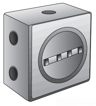 "O-Z/Gedney GUEB7-75AN4 3/4"" 7 Hub Hazardous Location Outlet Box, Nema 4, for Rigid/IMC Conduit"