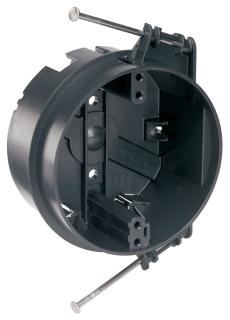 "PASS & SEYMOUR S1-20-RAC : PLASTIC BOX 4"""" ROUND CLG CAPTIVE NAIL"