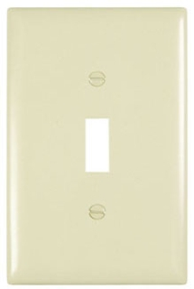 PASS & SEYMOUR TPJ1-I : TRADEMASTER WALL PLATE JUMBO SINGLE GANG TOGGLE IVORY