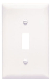 PASS & SEYMOUR TPJ1-W : TRADEMASTER WALL PLATE JUMBO SINGLE GANG TOGGLE WHITE
