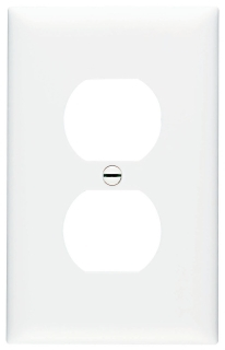 PASS & SEYMOUR TPJ8-W : TRADEMASTER WALL PLATE JUMBO SINGLE GANG DUPLEX WHITE