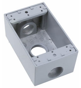 P&S WPB33 : WEATHER PROOF BOX SINGLE GANG 3 HOLE 3/4""