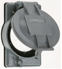 PASS & SEYMOUR WPG-2 : WEATHER PROOF CVR FLANGED INLETS/OUTLETS 2.32""""