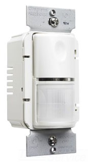 PASS & SEYMOUR WSP250-LA : WALL MNT OCCUPANCY SENSOR LIGHT ALMOND W/PLT