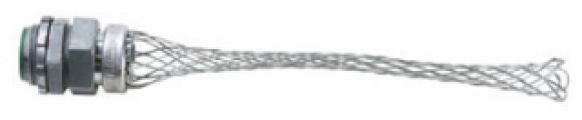 "P&S BOX70 Wire Mesh Strain Relief Grip, .7""-.97"" Cord Dia, 1"" Straight Male Connector"