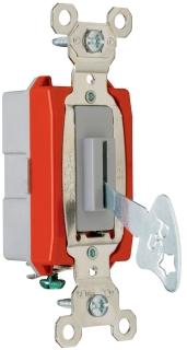 PASS & SEYMOUR PS20AC1-L : 20A 120/277VAC BACK & SIDE WIRE SINGLE POLE KEY LOCK