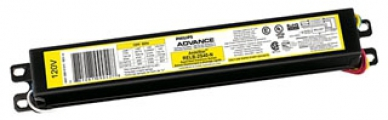 "Philips Advance ICN2S40N35I Centium Rapid Start Electronic Ballast. For 2-Lamp F30T12(30w-36""); F34T12, F34T12/U(34w); F40T12, F40T12/U(40w) Fluorescent 120/277v. Dimensions: 9.5""L, 1.3""W, 1"" ht."