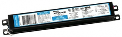 "Philips Advance IOPA2P32N35I Optanium Instant Start Electronic Ballast. For 1 or 2-Lamp T8 Fluorescent (17w, 25w, 32w) 120/277v. Dimensions: 9.5""L, 1.3""W, 1"" ht."