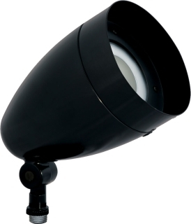RAB Lighting HBLED13B Black Bullet Shape Die Cast Aluminum Flood with 13watt LED Light Engine. Equivalent to 100W PAR Halogen. Comes with Flood Reflector Installed. Optional Spot Reflector for Field Installation. Color Temperature is Cool.