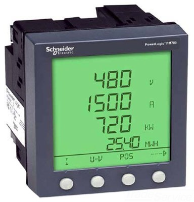 Square D Pm820u Pm820 Meter Unit Only W O Display