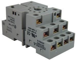 Square D 8501NR62 - Double Tier Relay Socket 300VAC 10AMP Type K