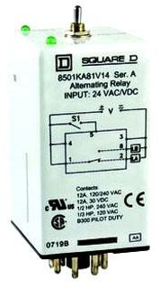 Square D 8501ka81v14 Alternating Relay 8 Pin Spdt 24v