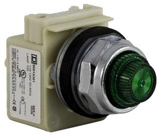 Square D 9001KP1G31 - Pilot Light 120VAC 30MM Type K +Options