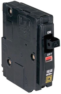 SQUARE D QO115 : MINIATURE CIRCUIT BREAKER 120/240V 15A