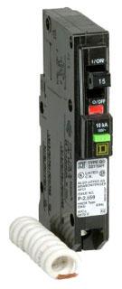 SQUARE D QO115AFI : MINIATURE CIRCUIT BREAKER 120/240V 15A
