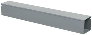 SQD LDB44 4X4X4FT GRAY WIREWAY ** CLOSING PLATES NOT INCLUDED - ORDER SEPARATELY