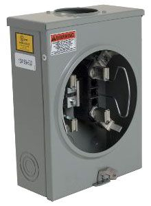 SQUARE D 1004162A : METER SOCKET 100AMP OH+UG +OPTIONS