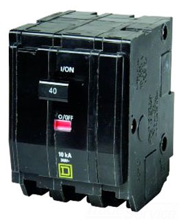 SQUARE D QO340 : MINIATURE CIRCUIT BREAKER 240V 40A