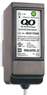 Square D QO2175SB - Load Center Secondary Surge Arrester, Maximum Voltage Rating 150VAC