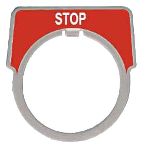 SQUARE D 9001KN202 : 30MM LEGEND PLATE - STOP RED