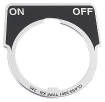 SQUARE D 9001KN245 : 30MM LEGEND PLATE - ON-OFF