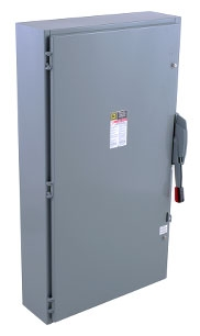 SqD H365 Heavy Duty 400A 600V 3-pole 3-wire Fusible Safety Switch. Nema 1 enclosure. Product Image