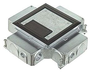 Stl cty 665 ci ci floor box gordon electric supply inc for Steel city floor boxes