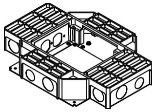 walker rfb4 ss shallow steel receptacle floor box. Black Bedroom Furniture Sets. Home Design Ideas