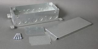 Walker 880s3 Steel Dp Floor Box 3 Gang Ombx Covers Sold
