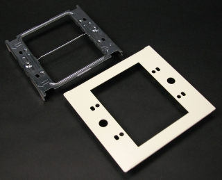 WIREMOLD V4047C-2 : 2-GANG DEVICE PLATE-IVORY