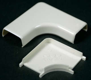 WIREMOLD 411 : NON-METALLIC FLAT 90 D. ELBOW 400 IVORY