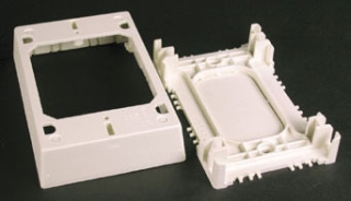 Wiremold WM 2348S/51: Shallow Device Box/ Extension Box- For shallow switches and receptacles. Base has rectangular KO.