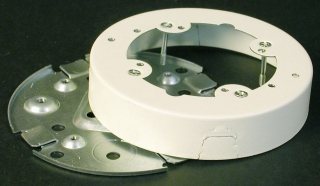 WIREMOLD V5738 : STEEL FIX BOX SOLID BASE IVORY