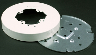 WIREMOLD V5739 : STEEL FIX BOX SOLID BASE IVORY