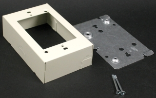 WIREMOLD V5741 : STEEL DEVICE BOX IVORY