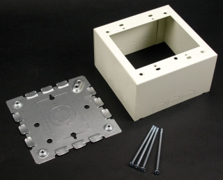 WIREMOLD V5744-2 : STEEL EXTRA DEEP DEVICE BOX 2G IVORY