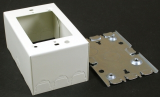WIREMOLD V5744 : STEEL EXTRA DEEP DEVICE BOX IVORY