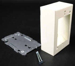 WIREMOLD V2048 : STEEL SWITCH & RECEPTACLE BOX 2000 IVORY